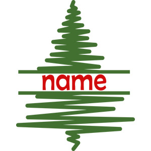 personalized name christmas tree lines