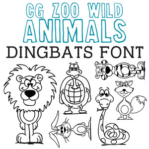 cg zoo wild animals dingbats