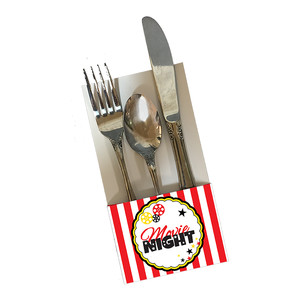 movie night utensil holder