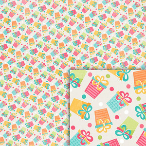 birthday gifts background paper