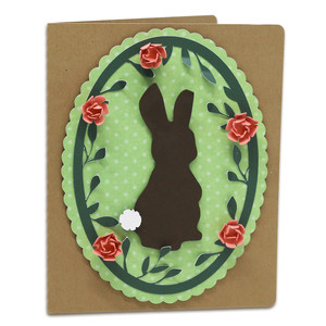 a2 bunny with flower frame