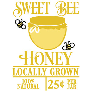 sweet bee honey sign