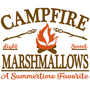 campfire marshmallows sign