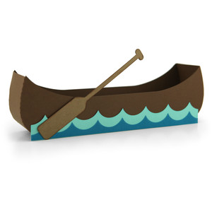 canoe shaped box