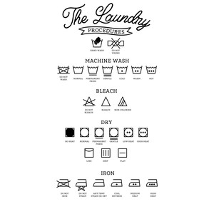 the laundry procedures
