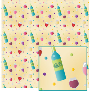 wine-themed pattern