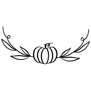pumpkin flourish with leaves