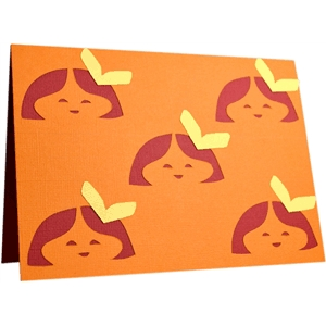 """little bow peep"" (pattern) folded note card"