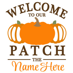 welcome to patch custom sign