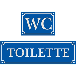 french house sign, wc, toilette,