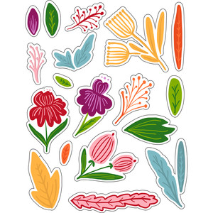 ml autumn sweet florals stickers