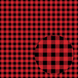 bright red & black buffalo plaid seamless pattern