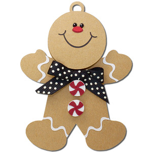 gingerbread man gift tag ornament