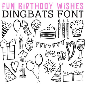 cg fun birthday wishes dingbats