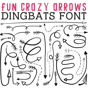 cg fun crazy arrows dingbats