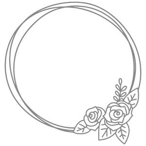 rose bouquet circle frame
