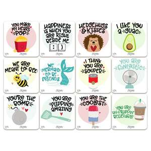 valentine stickers/tags