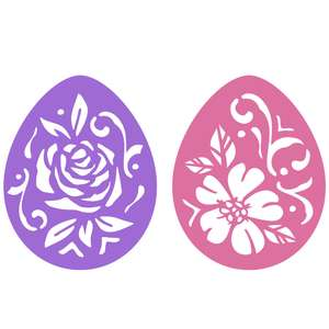 easter egg flower stencils
