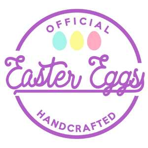 easter egg label & tag