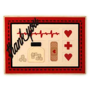 medical shadowbox thank you a7 card