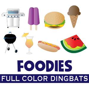 full-color food dingbats font