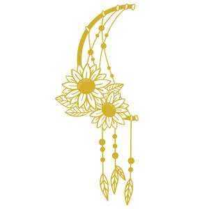 sunflower moon dreamcatcher