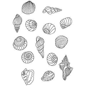 sea shell coloring stickers