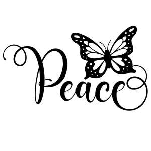 peace butterfly word