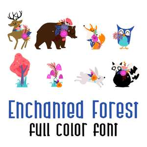 enchanted forest full color font