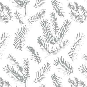 silver and snow branch pattern