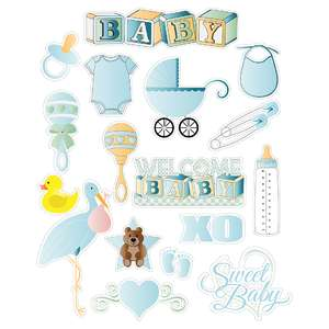 baby planner sticker sheets in blue
