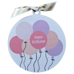 balloon birthday gift tag