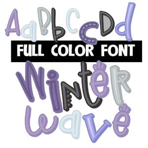 winter wave color font