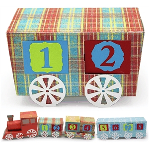 3d advent calendar train coal car