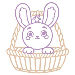 cute bunny in a basket