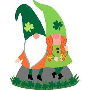 st. patrick's day gnome couple