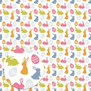 easter pattern with bunnies