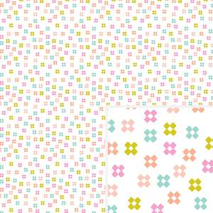 geometric flowers pattern