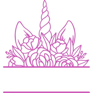 floral unicorn monogram