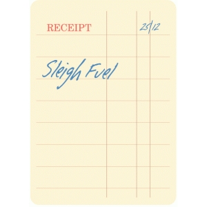 sleigh fuel receipt journaling card