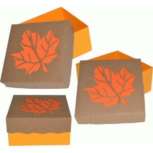 leaf box with lid