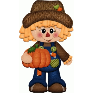 scarecrow standing autumn print & cut