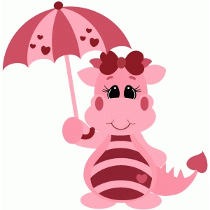 girl valentine dragon w umbrella