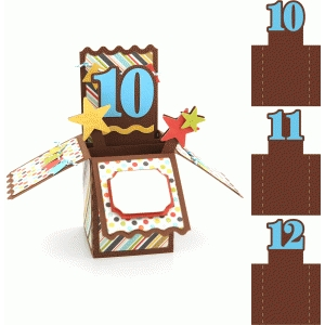 box card: birthday age 10, 11, 12
