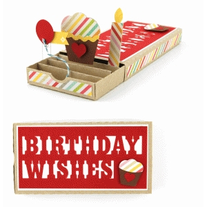 birthday wishes pop up drawer card