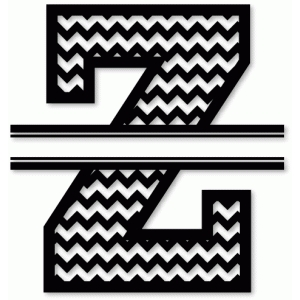 chevron split monogram z