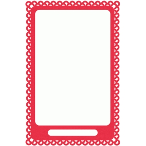 doily frame with opening