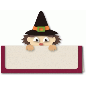 witch peek-a-boo a2 card