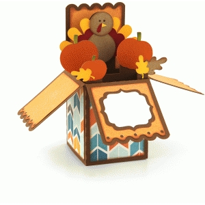 a2 thanksgiving turkey box card