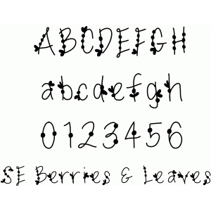 berries & leaves font